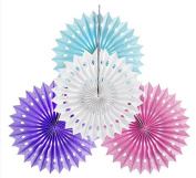 Sorive Pack of 4 Hanging Party Wedding Decorations Paper Fans