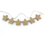 Zicome 150 Piece Brown Star Shaped Kraft Paper Gift Tags with 30m Natural Jute Twine
