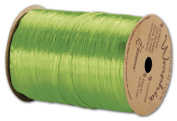 Solid Raffia - Pearlized Wraphia Apple Green Ribbon, 0.6cm x 100 Yds (3/pack) - BOWS-263-2-43