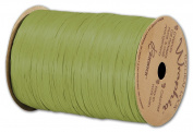 Solid Raffia - Matte Wraphia Jungle Green Ribbon, 0.6cm x 100 Yds (3/pack) - BOWS-74900-102