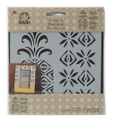 FolkArt Painting Stencil, 15cm by 15cm ,31473 Pineapple