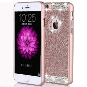 iPhone 7 12cm Shiny PC Hard Case-Superstart Slim Luxury Fashionable Case for iPhone 7 Bling Diamond Cover with Rhinestone for Girl-Rose Gold