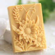 Grainrain Rectangle Flower White Silicone Soap Mould Soap Making Moulds Diy Craft Art Handmade Flexible Soap Mould
