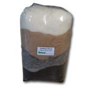 Certified Organic Bioland Felting Wool - Natural Shades 200 grammes