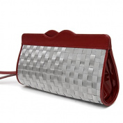 RFID Blocking Stewart/Stand Basketweave Clutch