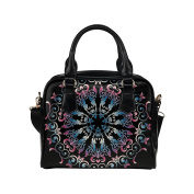 Artsadd Women Bag Colourful Floral Design Shoulder Handbag Tote Bag