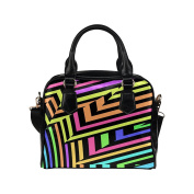 Artsadd Women Bag Illusion of Explosive Colour Shoulder Handbag Tote Bag