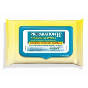 Preparation H Medicated Hemorrhoidal Wet Wipes Aloe Maximum Strength Formula 192 // Cools, Soothes, and Comforts • Convenient Easy To Use