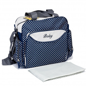 Mom Miya Baby Nappy Bag Nappy Changing Bag Large Capacity Multi Function Waterproof Mummy Handbag Wave Point 3 Colour