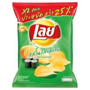 New Lays Potato Chips Nori Seaweed 105g.