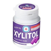 New Lotte Xylitol Gum Blueberrymint 58g.