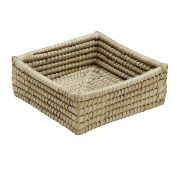 Natural Woven Kaisa Grass Basket 'Delta Palm Square Basket'