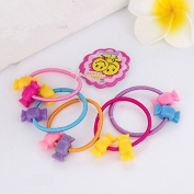 Minibear Cute Baby Girls Mini Cany Hair Ties Ponytail Holders Hair Bands 50pcs