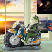 WWJ/ Decorations/creative crafts/frog motorbike resin ornaments