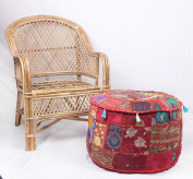NANDNANDINI - Beautiful Christmas Decorative Vintage Ottoman Decorative-Patchwork-22-Round-Ottoman-Pouffe-Stool-Chair-Handmade-Indian-Puffe Decorative-Patchwork-22-Round-Ottoman-Pouffe-Stool-Chair-Handmade-Indian-Puffe Decorative-Patchwork-22-Round-Ott ..