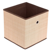 Internet's Best Canvas Storage Bin | Durable Storage Cube Box Basket Container | Clothes Nursery Toys Organiser | Brown
