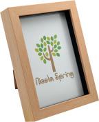 Nicola Spring Light Wood Effect 5x7 Box Photo Frame - Standing & Hanging