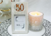 50 Birthday Anniversary Celebration gold Picture Frame card holder party favours