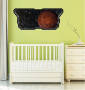 90cm Space Ship Window Instant View PLANET MARS #1 SPACESHIP Wall Graphic Kids Sticker Baby Room Decal Home Mural Art Décor MEDIUM