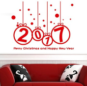 New Year 2017 Merry Christmas Sticker, Buedvo Home Shop Windows Decals Decor