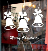 Merry Christmas Bell Sticker, Buedvo Quote Wall Sticker Home Shop Windows Decals Decor Removable