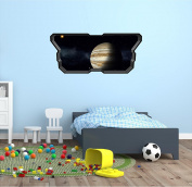 90cm Space Ship Window Instant View PLANET JUPITER #1 SPACESHIP Wall Graphic Kids Sticker Baby Room Decal Home Mural Art Décor MEDIUM