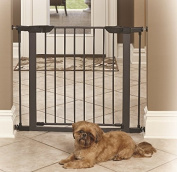 Baby Gate Walk Thru with Swing Door - Pressure Mount Safety for Doorways or Hallway is Best for Pets, Babies and Dogs - Portable Design for Indoor or Outdoor Use