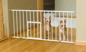 New Carlson 0680PW Mini Gate with Pet Door, White