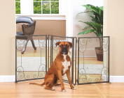 Metal Scroll Design Pet Gate with Door