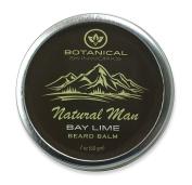 Natural Man Bay Lime Beard Balm - All Natural Beard Conditioner by Botanical Skinworks, 60ml