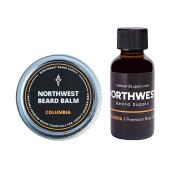 Columbia Beard Bundle (30ml beard oil & 60ml balm) - Fresh citrus medley & cedar wood scent (with essential oils), shea butter, coconut oil, and bees wax.