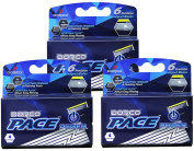 Dorco Pace 6 Plus Power - Six Blade Power Razor System with Trimmer - 12 Cartridges