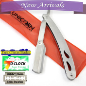 Brand New - Professional Barber Straight Edge Razor, Replacement Blades - Resists Tarnish and Rust - by Unicorn Plus
