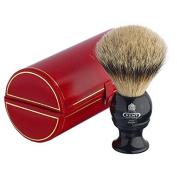 Kent BLK2 Medium Pure Grey Badger Shaving Brush Black