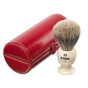 Kent BK2 Medium Pure Grey Badger Shaving Brush Ivory