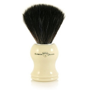 Edwin Jagger black synthetic fibre brush, Faux Ivory Imitation