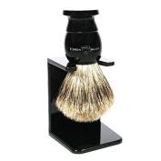Edwin Jagger Best Badger Shaving Brush and Stand in Ebony, Medium