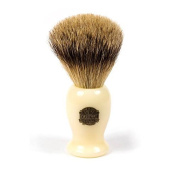 Vulfix Super Badger Shaving Brush with Faux Ivory Handle