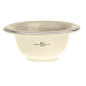 Edwin Jagger Ivory Porcelain Shaving Bowl with a Silver Rim