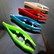 Bhbuy 2 Pcs Children Kids Plastic Tweezers Craft for Perler Beads Shaped DIY Toys Tools
