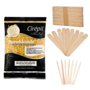 Cirepil EuroBlonde Wax (800g) Kit, includes 100 X-Small and 60 Large Applicator Sticks