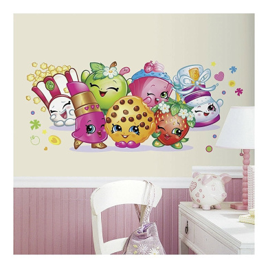 SHOPKINS PALS Giant Wall Decals Girls Bedroom Peel And Stick - Wall decals nz