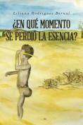 En Que Momento Se Perdio La Esencia? [Spanish]