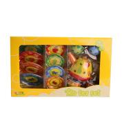 Bissport Tin Tea Set Toy – Kitchen Playset for Kids Girls Boys Pretend Play