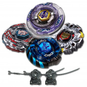 Beyblade Combo 4 Pack Scythe Kronos + Mercury Anubis Blue + Variares + Drago Destroy Black with 2x LL2 Launcher and Rip Cord // SHIPPED AND SOLD FROM US