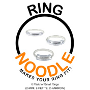 RING NOODLE for THIN rings 6 Pk (2-Mini, 2-Petite, 2-Narrow) Ring Size Reducer, Ring Guard