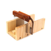 Peicees Adjustable Wooden Soap Mould Handmade Loaf Cutter Mould with 2pcs Wavy & Straight Planer Cutting Tool Set
