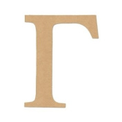 """15cm LETTER """"GAMMA"""" GREEK FONT Unfinished Wood/Wooden Letter DIY Home, COLLEGE, SOROITY AND FRATERNITY Decor USA Made"""