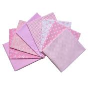 iNee Pink Fat Quarters Quilting Fabric Bundles, Sewing Fabric for Quilting Crafting, 46cm x 60cm