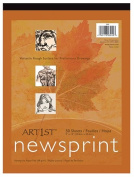* ART1ST NEWSPRINT PAD 12X18 50 SHT